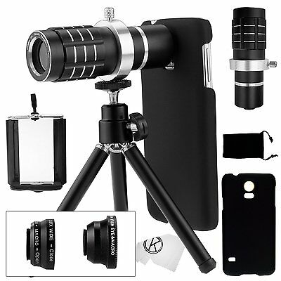 Samsung Galaxy S5 Telephoto Lens Camera Phone Set Accessories Wide Angle Lenses