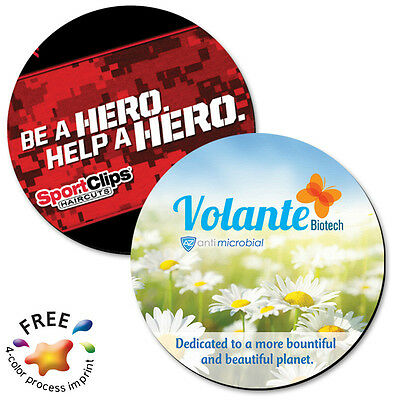 FULL COLOR NEOPRENE COASTERS - 250 quantity - Custom Printed with Your Logo