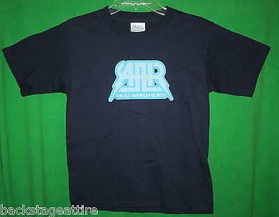ALL AMERICAN REJECTS Blue/Silver Logo Tshirt T-Shirt YOUTH MEDIUM (10-12)-New!