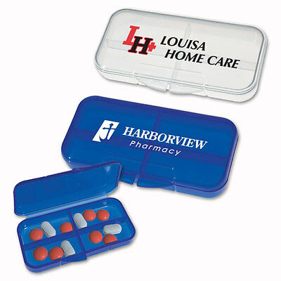 RECTANGLE PILL CASES - 250 quantity - Custom Printed with Your Logo