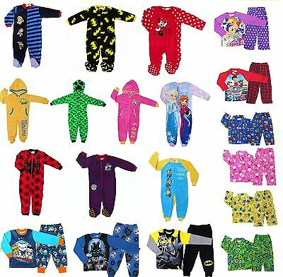 New 2~12 Boys Kids Pyjamas Pj Pjs Winter Sleepwear Nightie Tee Jumpsuit Nightie