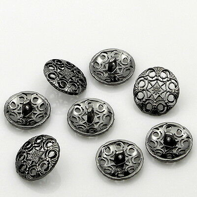 "25PCs New Round Metal Shank Buttons Accessories 20mm(6/8"") Dia"