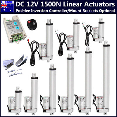 Heavy Duty Linear Actuator Stroke 1500N 330 Pound Max Lift DC 12V Electric Motor