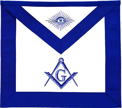 Masonic Master Mason Apron Blue Hand Embroidered (Ma-277-V)