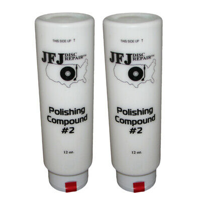2 x JFJ EASY PRO POLISHING COMPOUND #2 WHITE 12oz
