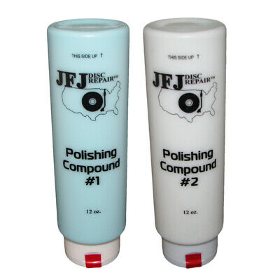 2 x JFJ EASY PRO POLISHING COMPOUND #1 & #2 12oz
