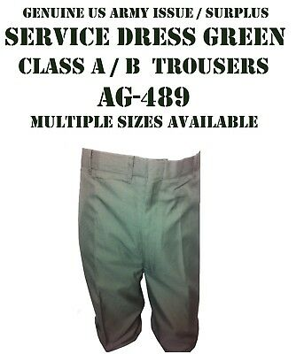 Mens Service Dress Green Class A B Us Army Uniform Pants Trousers Many Sizes