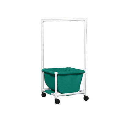 Laundry Hamper with Clothes Rod Mesh Teal 1 EA