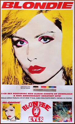 BLONDIE 4(0) Ever Greatest Hits Redux Ghosts of Download Ltd Ed RARE New Poster!
