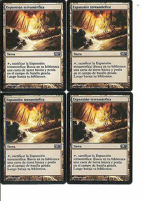 mtg Magic 4x Terramorphic Expanse ( Expansion terramorfica ) Spanish NM- M2011