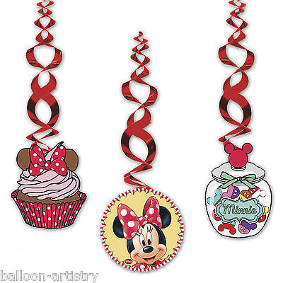 3 Disney Minnie Mouse Cafe Birthday Party Hanging Dangling Cutouts Decorations