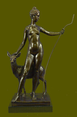 Bronze Sculpture, Hand Made Statue Fairy / Mythical Signed~Leochares ~Diana SALE