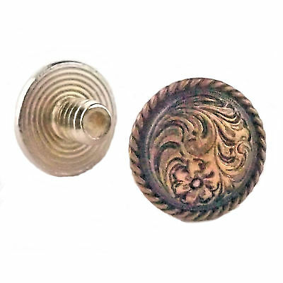 "Chicago Screws Concho Antique Copper 3/16"" 100 Pack 3305-32 by Stecksstore"