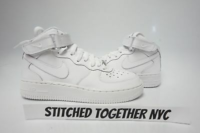 (314195-113) Grade-School Youth Nike Air Force 1 Mid White/white