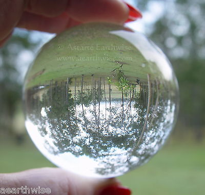 CLEAR CRYSTAL BALL 60 mm Wicca Witch Pagan Goth DIVINATION SCRYING