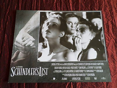 SCHINDLERS LIST - CAST PICTURE - USA LOBBY CARD- 11x14