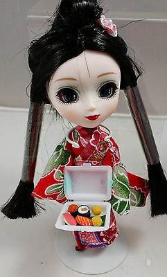"5"" Mini Pullip from Groove/Jun Planning  La-415, Hime yuri, with SUSHI togo box"