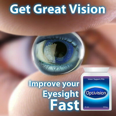 Optivision Vision Support Pills Eye Tablets Good Eyesight Stop Dry Watery Eyes
