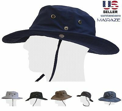 Boonie Bucket Hat Fisherman Wide Brim Safari  Hiking Cap Cotton Sun Cool Masraze
