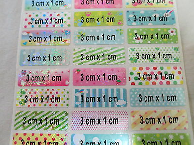 120 Colorful Glossy Personalized Waterproof Name Stickers Daycare School Labels