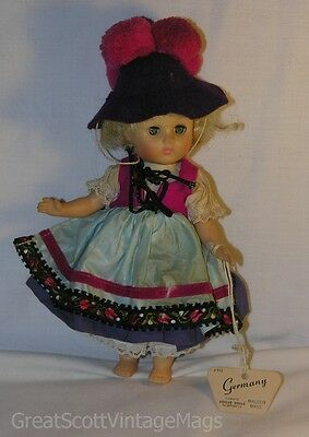 """Vintage Vogue Ginny Dolls For Away Lands Little Miss Ginny Germany Doll 7"""" Tall"""
