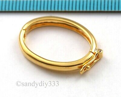 1x REAL KARAT GOLD plated STERLING SILVER SHORTENER CONNECTOR CLASP G151