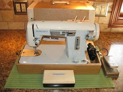 Rare Vintage JCP Penncrest 5000 Multifunction Sewing Machine, Outstanding !!!