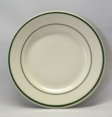 "Buffalo By Oneida Restaurant Ware Dark Green Stripes Bread Dessert 7"" Plate"
