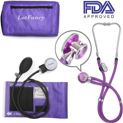 Blood Pressure Monitor Aneroid Sphygmomanometer Sprague Dual Head Stethoscope
