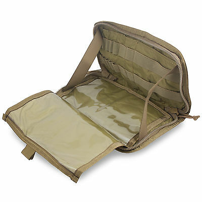 Bulldog MOLLE Military Army Commander Admin Panel Pouch Map Case Cover Coyote CT