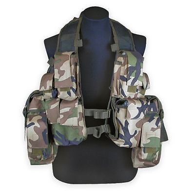 SADF M83 South African Assault Army Airsoft Military Combat Vest Woodland Camo