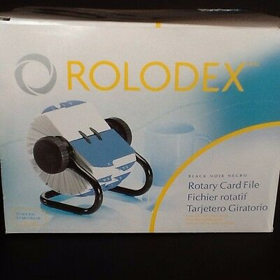 Rolodex Rotary Card File A-Z Dividers Plus 500 Cards NEW IN BOX