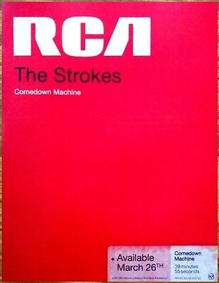 THE STROKES Comedown Machine RARE Ltd Ed Mini Poster Window Cling +FREE Stickers
