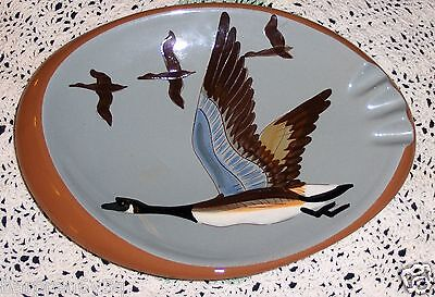 Vtg Stangl Canadian Geese Bowl Pottery Dish Canadian Goose Birds Ashtray Plate
