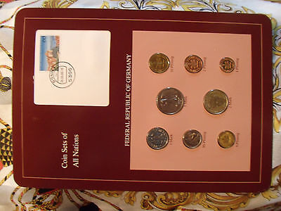 Coin sets of all nations Germany 1986 - 1988 UNC w/card 1 Mark 1986
