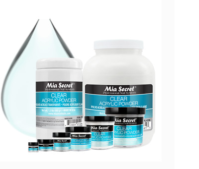 Mia Secret  Clear 2,4,8 Oz  Acrylic Powder Professional Nail System Made In Usa