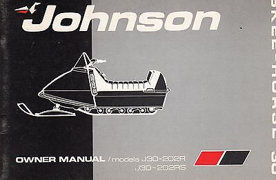1972 Johnson Skee-Horse 30 Hp Snowmobile Owners Manual