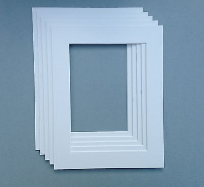 "10x10"" Inch  White Mounts with aperture 8x8"" inch - pack of 5"