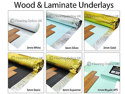 Wood / Laminate Flooring Underlay - Sonic Gold - Acoustic - Silver - XPS, Vapour