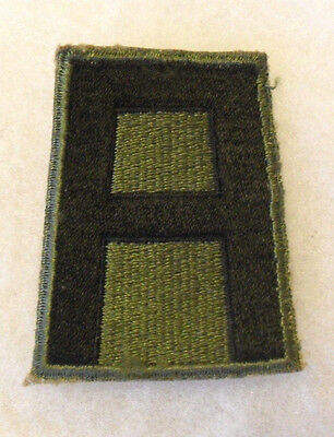 Wwii 1St Us Army Of Eto Fame Original Cotton No Glow Cut Edge Patch