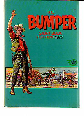 The Bumper Story Book For Boys 1975 / Good.