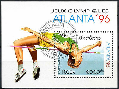 Laos 1996 SG#MS1489 Olympic Games Cto Used M/S #A84836