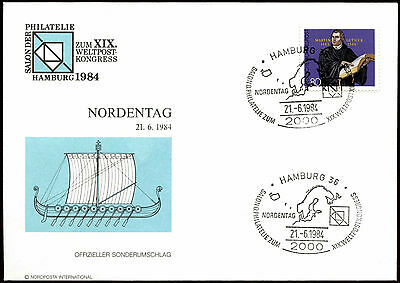 West Germany 1984 Hamburg UPU Congress Cover #C21940