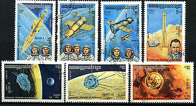 Kampuchea 1984 SG#518-524 Space Research Cto Used Set #A84740