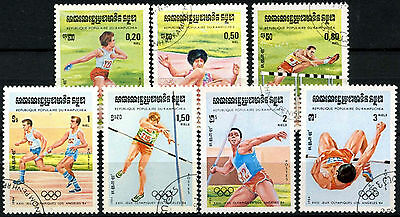 Kampuchea 1984 SG#526-532 Olympic Games Cto Used Set #A84741