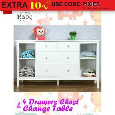 Baby Change Table 4 Drawers Changing Table