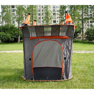 Kids Portable Folding Black Chindren Play Tent Castle Cubby House for Boys Xmas