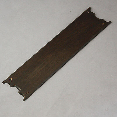 Antique Victorian Gothic Mahogany Door Finger Plates