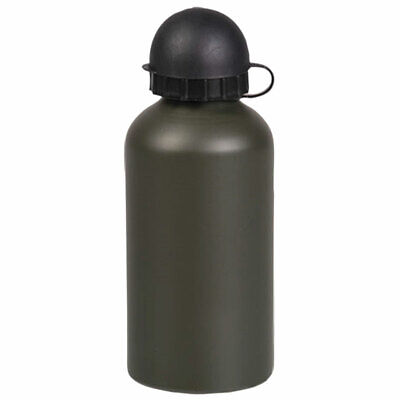 Aluminium Military Army Camping Hiking Drinking Water Bottle 500ml Olive Green