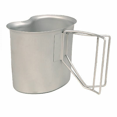US Army Style Camping Military Drinking Cooking Stainless Steel Cup Mug 500ml